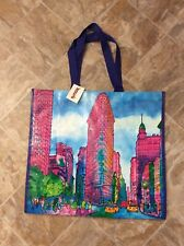 NEW TJ Maxx Large Shopping Tote Bag NY Flat Iron Building Reusable Eco NWT