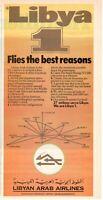 1977 Original Advertising' American Libyan Arab Airlines Libya 1 Clipping