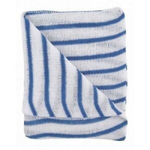 Striped Stockinette Cotton Dish Cloths 30 x 40cm Various Colours Available