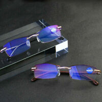 +1/1.5/2/3/3.5/4 Mens Half frame Anti Blue Light Anti-radiation Reading Glasses