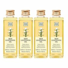 Auravedic Skin Lightening Oil with Saffron and Turmeric 100ml x 4, Pack of 4