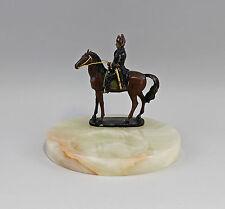 9937639 sign. Canova Onyx-Coque bronze sculpture Napoléon à cheval 20x18cm