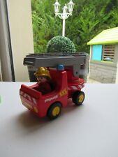 👿 Jouet Playmobil 123 Réf: 6716 Camion De Pompier, Feu, Pompier, Enfants