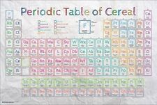 PERIODIC TABLE OF BREAKFAST CEREAL ~ 24x36 HUMOR POSTER ~ NEW/ROLLED!