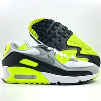 Nike Sportswear Air Max 90 Recraft White Grey Volt Black CD0881-103 Men's 8-10