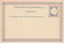 Liberia # X3 1891 Postal Stationery MINT7.00