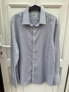 "Charles Thrwhitt Blue Slim Fit Dress Shirt Size 17"" Collar. VGC"