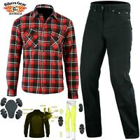 Australian Bikers Gear Motorcycle Trouser and Shirt Lined with KEVLAR® Fibrer CE