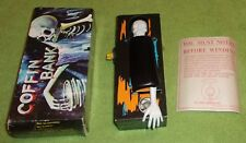 vintage Coffin Bank toy wind up horror halloween prop original box & instruction