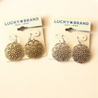 New Lucky Brand Floral Drop Earrings Gift Vintage Women Party Jewelry 2Colors FS