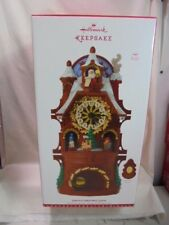 2017 Hallmark Keepsake Santa's Christmas Clock Tabletop Mantle