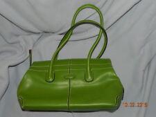 TOD'S LEATHER TOTE SHOULDER BAG HANDBAG green