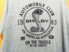 SHELBY 1983 gray graphic 2XL COBRA SNAKE auto club t shirt