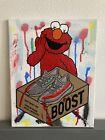 14x11 Yeezy Boost Elmo Sesame Street Kaws Pop Drip Wall Graffiti Art Painting