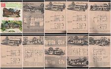 HOME PLANNERS 108 TRAD/CONTEMP HOUSE PLANS, RICHARD POLLMAN MODERN MID CENTURY A