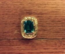 14KT. YELLOW GOLD SLIDE BRACELET CHARM, BLUE TOPAZ, BY OLD VICTORIA, GORGEOUS !!