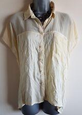 Size 10 Top MISS SELFRIDGE Lemon Yellow Loose Casual Fit Women's Summer