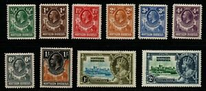 Northern Rhodesia 1925/35 G5 collection of 10 to 1/- m/mint.