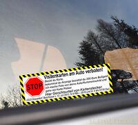 Stop Visitenkarten Verboten Aufkleber Auto Kartenstecker OLG Spruch finger weg