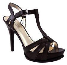 Guess Women's Tako Platform Slingback T-Strap Sandals Brown Size 9.5 M