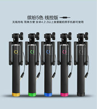 10pcs/Lot Extendable Monopod Wired Selfie Sticks w Clip for IOS iPhone Android