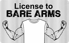 License to BEAR ARMS novelty collectors card Drivers License Weight Lifter 2nd a
