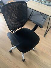 Black Swivel Office Desk Chair Silver Legs bought on Amazon