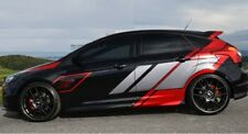 Ford Focus ST CUSTOM Car Whole Body Sticker Styling Decal Mural Vinyl Red Silver