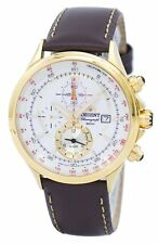 Orient Chronograph Tachymeter Alarm Quartz FTD0T001N0 Mens Watch