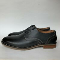 Nunn Bush Men's Clyde Plain Toe Derby Shoes Charcoal Gray Size 8 M