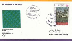 (44456) Turkey Lufthansa Cover Istanbul Frankfurt 1977