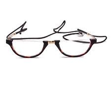 Half Moon Unisex Wrap Neck Round Foldable Eyewear Eyeglasses Reading Glasses+1.0