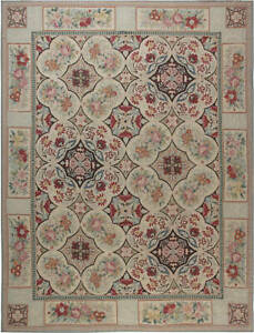 Bessarabian Design Blue, Brown, Green, Pink and Red Wool Rug N11902