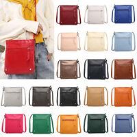 Solid Color Shoulder Messenger Handbags Women Girl Leather Casual Crossbody Bags