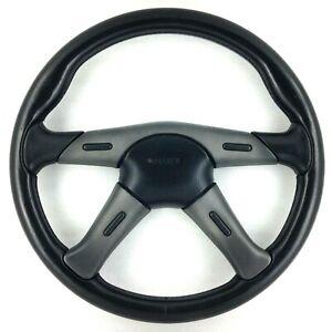 Genuine Nardi Gara 360mm 4 spoke black leather steering wheel. Retro classic 8C