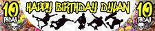 2 x Personalised Skate Board Ramp Birthday Banner