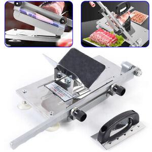 NEU Aufschnittmaschine Fleischschneidemaschine 0.3-15mm Wurstschneider Fleisch