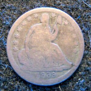 1839 O  US Seated Half Dime Silver Circulated fair