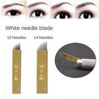 5Pcs Blades Tattoo Eyebrow Needles 3D Embroidery Microblading Bevel U Shaped
