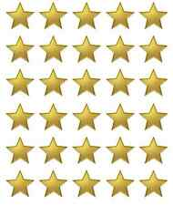 Gold Stars x 30 Cupcake Toppers Edible Wafer Paper BUY 2 GET 3RD FREE!