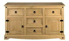 Corona 2 Door 5 Drawer Large Sideboard - Mexican Pine