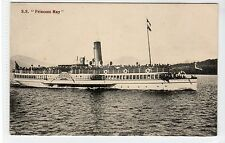 "S.S. ""PRINCESS MAY"" ON LOCH LOMOND: Dunbartonshire postcard (C21946)"