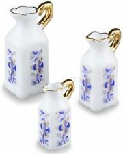 DOLLHOUSE Tall Pitcher Set 1.326/5 Reutter Porcelain Blue Onion Miniature