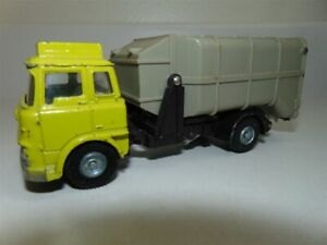 Vintage Dinky Toys 1:43 Bedford Garbage Truck-Hi Vis yellow paint-some issues