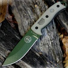 ES5PKOOD Couteau Esee Model 5 Acier Carbone 1095 Plain Manche Micarta Made USA