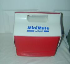 Vintage 1997 Red And White Minimate Igloo Cooler Button Latch.