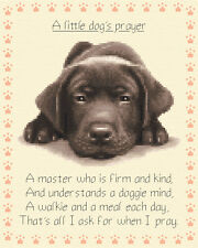 Chocolate LABRADOR puppy dog - complete counted cross stitch kit