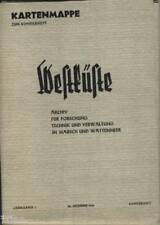 Kartenmappe zum Sonderheft Westküste Wattenmeer Iwersen Eider Holstein 1938