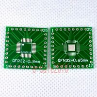 20pcs NEW QFP/QFN 32 to DIP 2.54mm Adapter PCB Board Converter Double Sides F07A