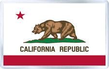 CALIFORNIA USA FLAG FRIDGE MAGNET SOUVENIR IMAN NEVERA